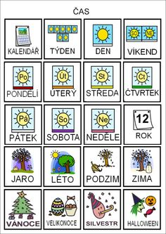 Tak TROCHU ... jiný svět: Čas - piktogramy Teaching Posts, Teaching Tips, Preschool Themes, Preschool Worksheets, Weather For Kids, Pictogram, First Day Of School, Videos Funny, Adhd