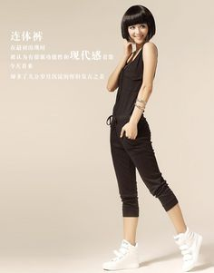 Women New Cotton Jumpsuit Shown Thin Black Pants One Size@IM3001b
