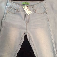 Papaya Wax Jean Cozy Knit Light Blue Denim Distressed Skinny Jeans Junior 3 eda96109f24