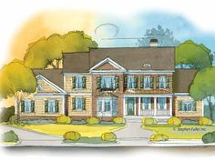 Country House Plan with 3061 Square Feet and 4 Bedrooms from Dream Home Source | House Plan Code DHSW53278