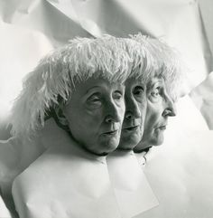 """Winter is the time for comfort."" — Edith Sitwell  (multiple exposure, Cecil Beaton, 1962)"