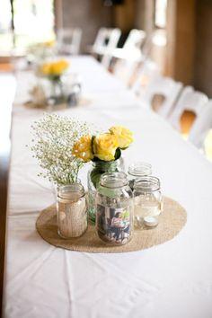 Idea for simple table decor
