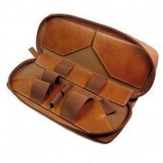 ecig box mod case faux vintage leather bown 2 2