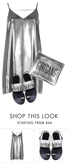 """Silver thang"" by eiwa on Polyvore featuring River Island"