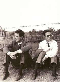 Bernardo Bertolucci and Piero Paolo Passolini