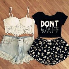 This is an outfit for stunners. Cute simple comfy and gorgeous. I love these matching bff outfits. Shorts and crop tops for best friends. Slay.