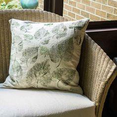 Leaf Print Drop Cloth Pillows