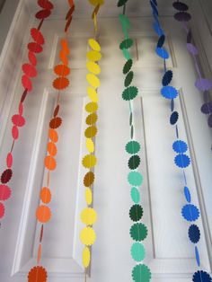 Rainbow Garland, Paper Garland, Garland Backdrop strands, Colorful Garland, Birthday Garland. $24.00, via Etsy.