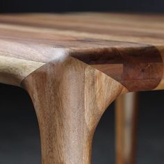 "mid-century-furniture: ""Loving this beautiful and complex walnut table joinery #walnut #joinery #woodwork #table """