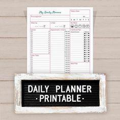Start each day with a detailed planner printable, in a vertical layout, that you can use to avoid stress for the rest of the day! No longer agonize over forgotten appointments, to-dos, events, calls, or emails! Have one place to track everything! Multiple sizes to choose from make it easy for