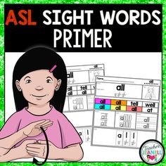 This American Sign Language ASL sight word practice packet is designed to help your students practice Dolch Primer sight words.