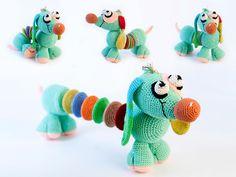 Dachshund crochet doll dog child doll dog Amigurumi doll, Crocheted, Hand crocheted toy. $40.00, via Etsy.