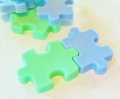 CUSTOM PUZZLE SOAPS Set of 2 Natural Bath Soaps by crimsonhill, $4.50