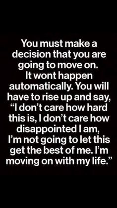 Just make that decision...for yourself and your own sanity
