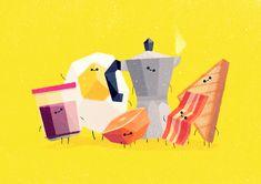 Team Breakfast by Benjamin Flouw, via Behance