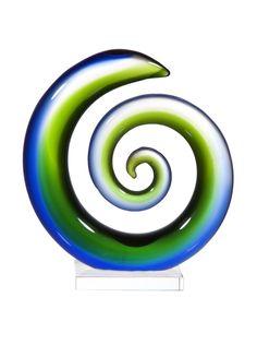 "Home Essentials 7"" Art Glass Snail, Green/Blue at MYHABIT"