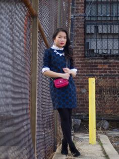 http://accordingtolana.blogspot.com/2014/02/chic-in-shift-red-lips-and-polka-dot.html