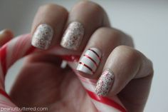 Outstanding Christmas Nails Art Manicures With Red White Green 11
