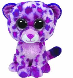 """Glamour the Leopard - Medium """"There are no better colors than purple and pink. They make me so pretty I surely think!"""" Birthday: May 5 Beanie Boos are an adorable Ty collection of plush full-bodied Ty Animals, Plush Animals, Big Eyed Stuffed Animals, Ty Peluche, Ty Boos, Rare Beanie Babies, Boo And Buddy, Ty Babies, Cute Beanies"""
