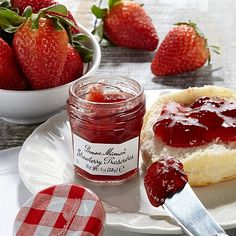 Bonne Maman Strawberry Preserves 15-Count jars. just delicious!! excellent french quality. jam is directly from france. available for purchase at www.hsn.com. xoxo.