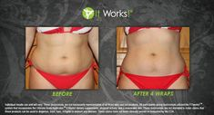 It Works Body Wraps Before and After Pictures | It Works Crazy wrap Thing! ONE treatment 4 wraps. www.shayleebeatty.myitworks.com