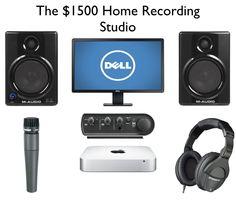 The $1500 Home Recording Studio Setup http://ehomerecordingstudio.com/home-recording-studio-quick-start/