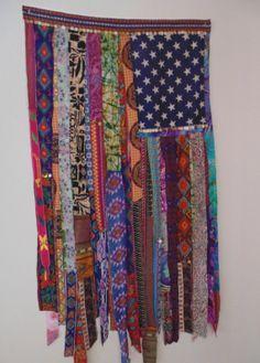 Bohemian Gypsy coin curtain flag wind chime by TheSleepyArmadillo