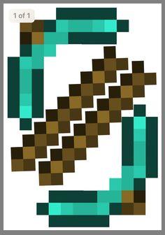 Minecraft Box, Minecraft Sword, Minecraft Crafts, Minecraft Party, Origami Sword, Cool Pokemon Cards, Paper Crafts Origami, Diy Costumes, Paper Design