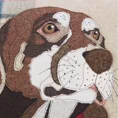 Commission a dog cushion from Lisa Skelton Golden Labrador, Black Labrador, Applique Quilt Patterns, Applique Designs, Cockerpoo, Different Types Of Fabric, Psy, Dog Cushions, Jack Russell Terrier