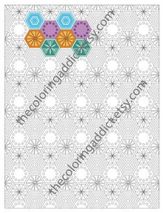 Adult Coloring Page Advanced Retro Pattern Colouring Sheet Intricate Pdf Printable Digital