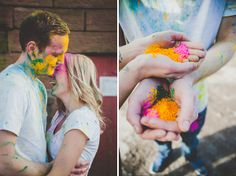 A Powder Paint Fight Engagement ~ UK Wedding Blog ~ Whimsical Wonderland Weddings