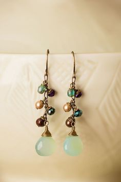 Anne Vaughan Designs - Crisp Autumn Gemstone Cluster Dangle Earrings, $32.00 (https://www.annevaughandesigns.com/crisp-autumn-gemstone-cluster-dangle-earrings/)