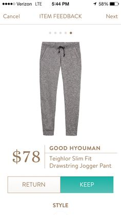 Love the casualness to these, with an oversize top. Maybe a size up for extra room with my bigg tush :)