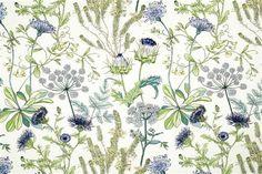 Wild Oasis - Robert Allen Fabrics Calypso Blue