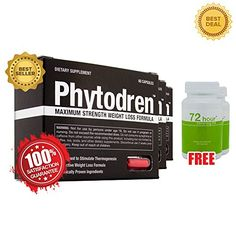 Phytodren 3 Bottles  2 FREE 72hr Slimming Hardcore Weight Loss  Burn Fat  Boost Energy Levels  Eat Less * Check this awesome product by going to the link at the image.Note:It is affiliate link to Amazon.