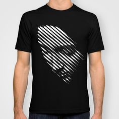 Face Lines T-shirt by Philipe Kling