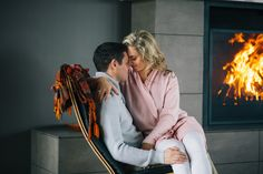 Winter engagement session. That FIREPLACE! #engagement #fireplace #couple #love #engamentphotography