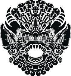 Mythological ethnic gods head vector image on VectorStock Art Vampire, Vampire Knight, Asian Tattoos, Tribal Tattoos, Dengeki Daisy, Tatoo Lettering, Cinema Architecture, Dragon Rouge, Ying Y Yang