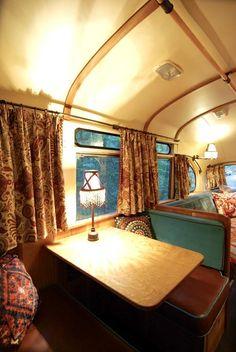 amazing bus renovation  ...warm and cozy.....
