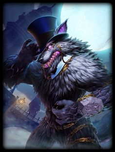 Fenrir the Unbound, one of his various skins in Smite