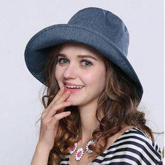48ba0785acd Fashion ladies wide brim sun hat for summer bow bucket hats UV
