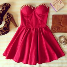 Ethnic Flirty Bustier Dress WiITH STUDS