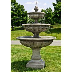 Campania International Three Tier Longvue Outdoor Fountain - FT-240 - NATURAL