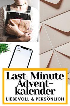 """Jeden Tag bis zum 24. Dezember schickst du einer lieben Person, der du eine Freude machen möchtest, eine Nachricht. Das Ziel: Teile einer anderen Person mit, dass du an sie denkst, sie gerne hast und ihr mit diesen Nachrichten ein Lächeln auf die Lippen zaubern möchtest. Egal ob per Handy digital oder per Hand geschrieben - die Nachricht zählt. Für Tipps und Tricks und Ideen zum """"Befüllen"""" des Kalenders, kannst du auf der Webseite vorbeischauen Last Minute, Advent, Tricks, Super, Read Aloud Books, Grandma Birthday"""