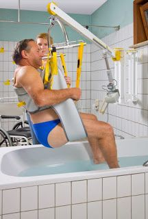 Mobility Products for Disabled People: Wall Lift for Hoisting into a Spa Pool, Hot Tub or Jacuzzi