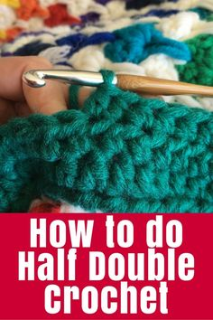 How to Half Double Crochet - Time for another basic crochet stitch tutorial. This one is how to Half Double Crochet (U.K.) - or Half Treble as it is called in the U.S. | #crochet #tutorial