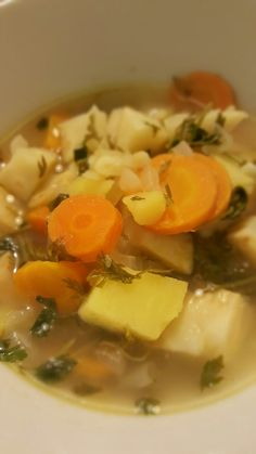 Winter root soup