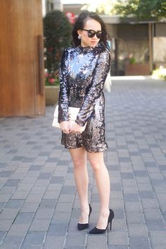 SEQUIN DRESS OUTFIT