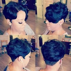 Today we have the most stylish 86 Cute Short Pixie Haircuts. We claim that you have never seen such elegant and eye-catching short hairstyles before. Pixie haircut, of course, offers a lot of options for the hair of the ladies'… Continue Reading → Short Pixie Haircuts, Pixie Hairstyles, Short Hair Cuts, Braided Hairstyles, Short Sew In Hairstyles, Short Human Hair Wigs, Undercut Hairstyles, African Hairstyles, Hairdos