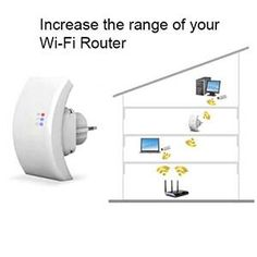 Wireless WiFi Repeater. Increase The Range Of Your Wi-Fi Router